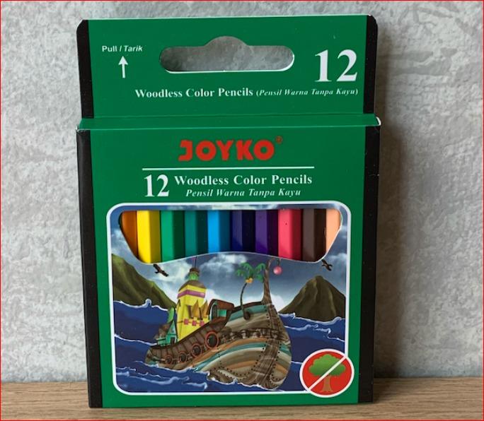 pensil warna pendek joyko – 12 warna cp-107