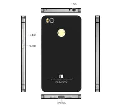 Xiaomi Mi 4S Backdoor Glass / Case Backdoor - 4 .