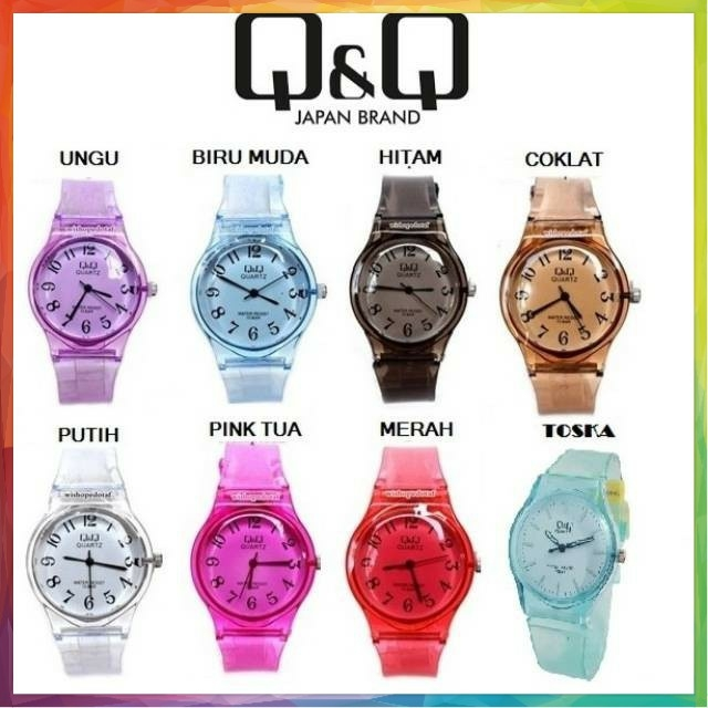jam tangan q&q jelly transparan qnq transparan