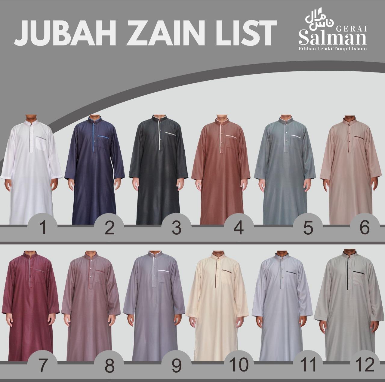 Gamis Pria Zain / Jubah TERMURAH Model Kancing List GRATIS PECI