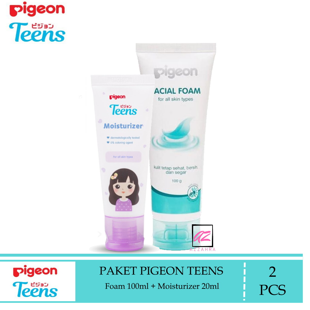 pigeon teens paket remaja ( facial foam 100ml + moizturizer 20ml) – 2pcs