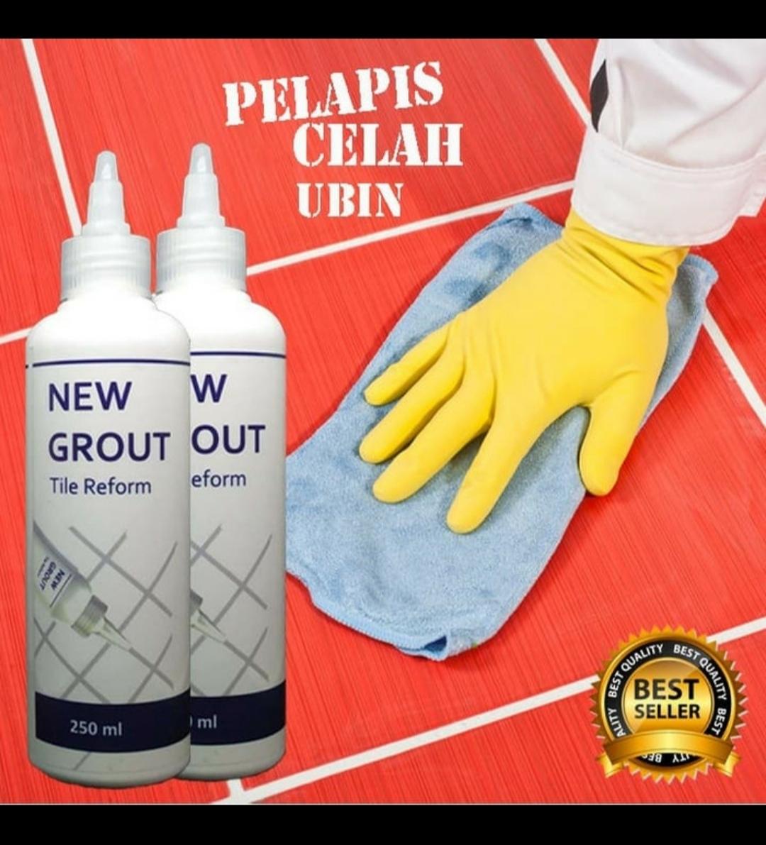 tile reform pengisi nat/celah keramik ubin new grout anti air jamur 100 ml – warna putih