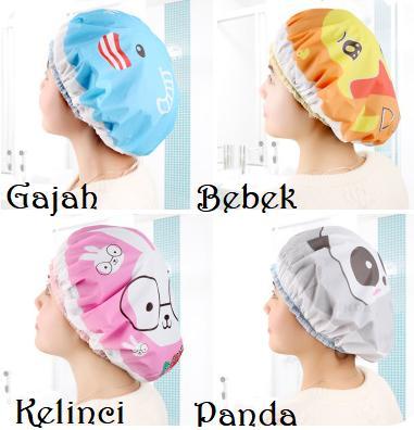 SHC - Shower Cap Karakter Anti Air Topi Mandi Waterproof