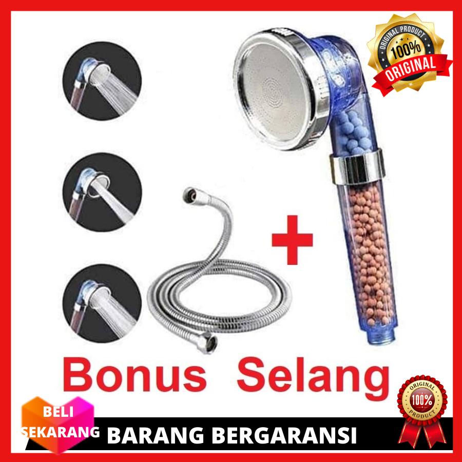 bisa cod – [ selang shower fleksibel 60cm ] selang shower fleksibel hose stainless steel / selang air / aksesoris man/ peran kamar mandi