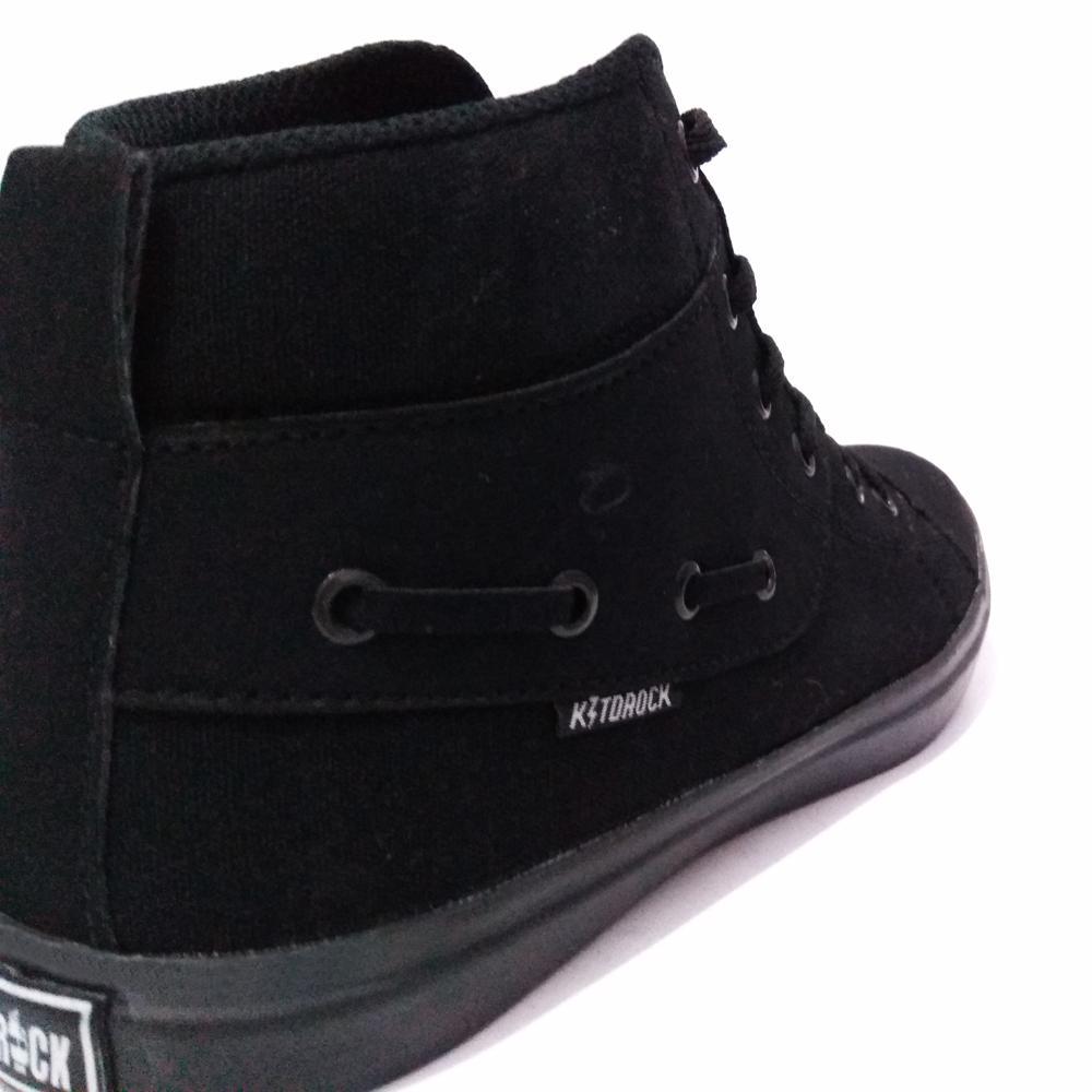 Me Code Sepatu Sneakers Sekolah Casual Pria Wanita Kidrock Polos - Tinggi + FREE Topi Truckerr - 4