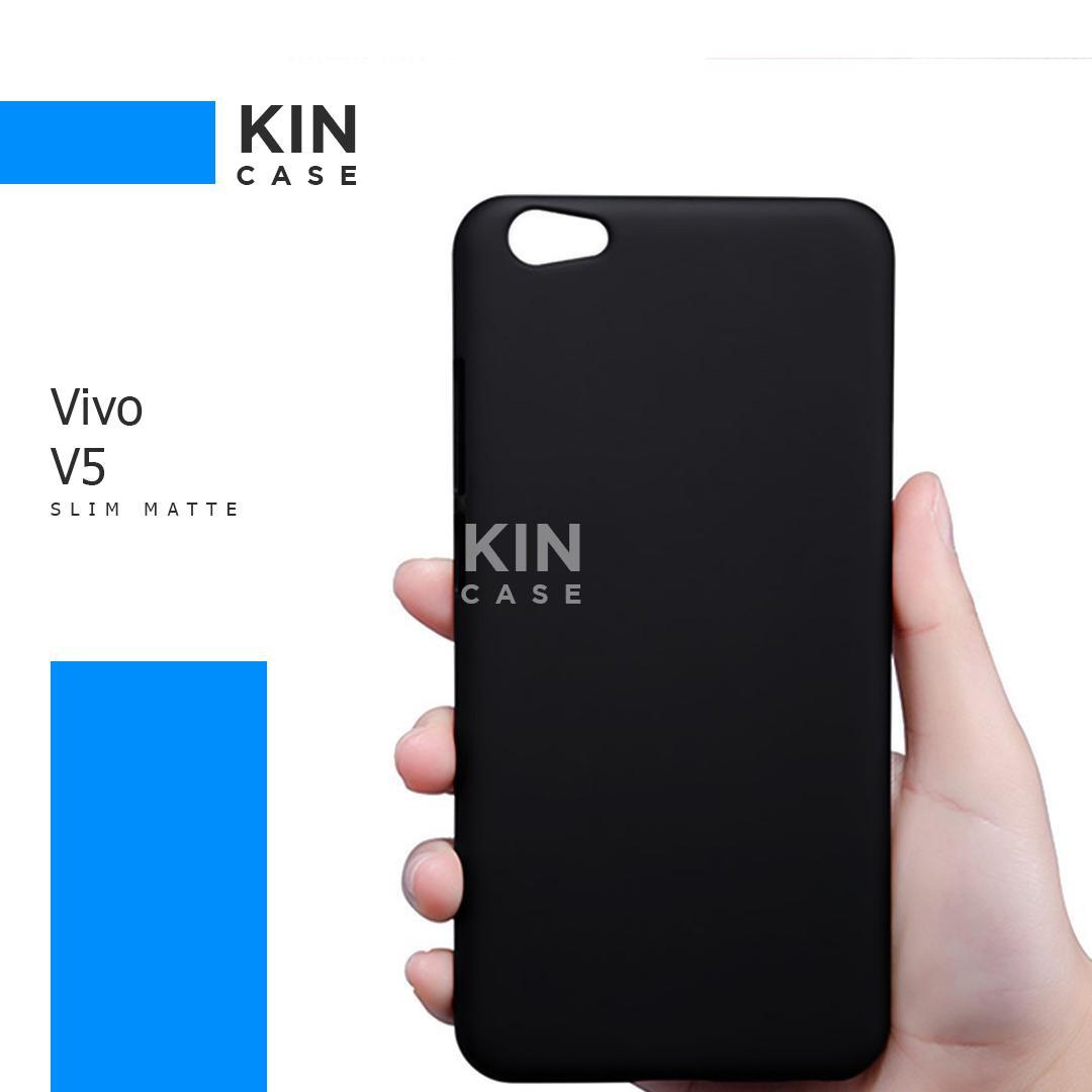 Kin Case Slim Black Matte Vivo V5 Lite Baby Skin Softcase Ultra Thin Jelly Silikon Babyskin