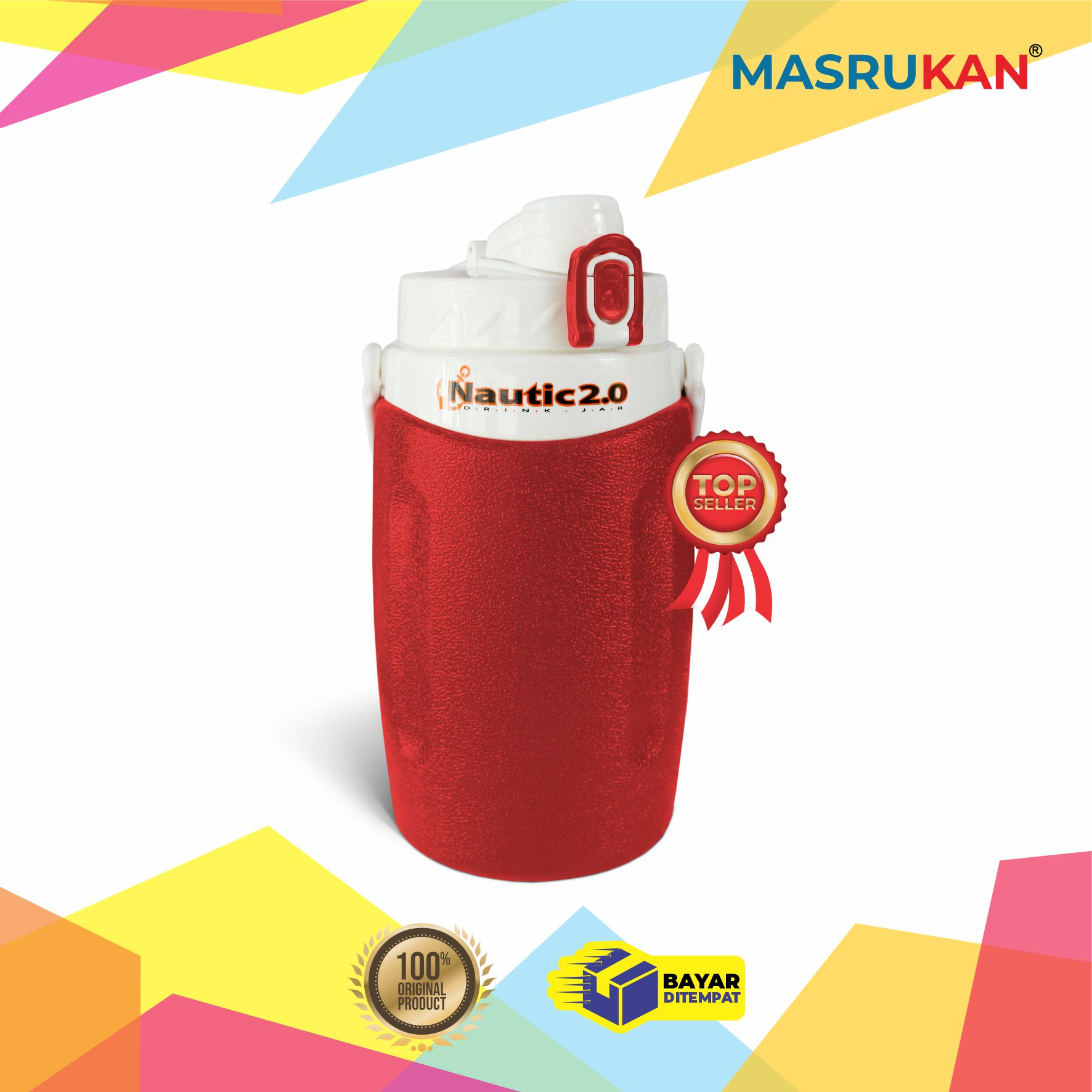 termos nautic jar 2 liter dispenser air minum cooler termos termos bekal termos sebaguna tahan panas dingin 2 liter
