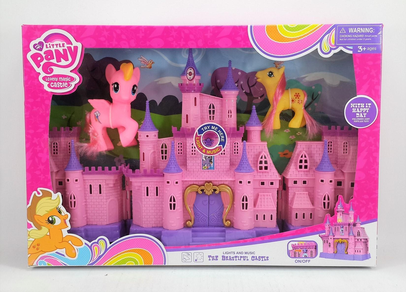 Mesh Mainan Anak Perempuan My Little PONY LOVELY MAGIC CASTLE - Mainan rumah Istana My Little Pany - 1 pak