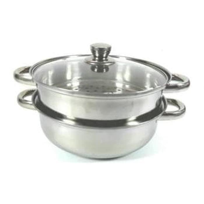 Panci Kukus Serbaguna Ukuran 28 Cm Susun 2 / Steamer Pan