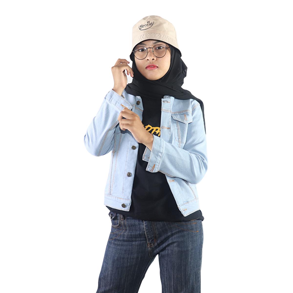 jaket denim crop wanita  / jaket wanita / jaket terlaris