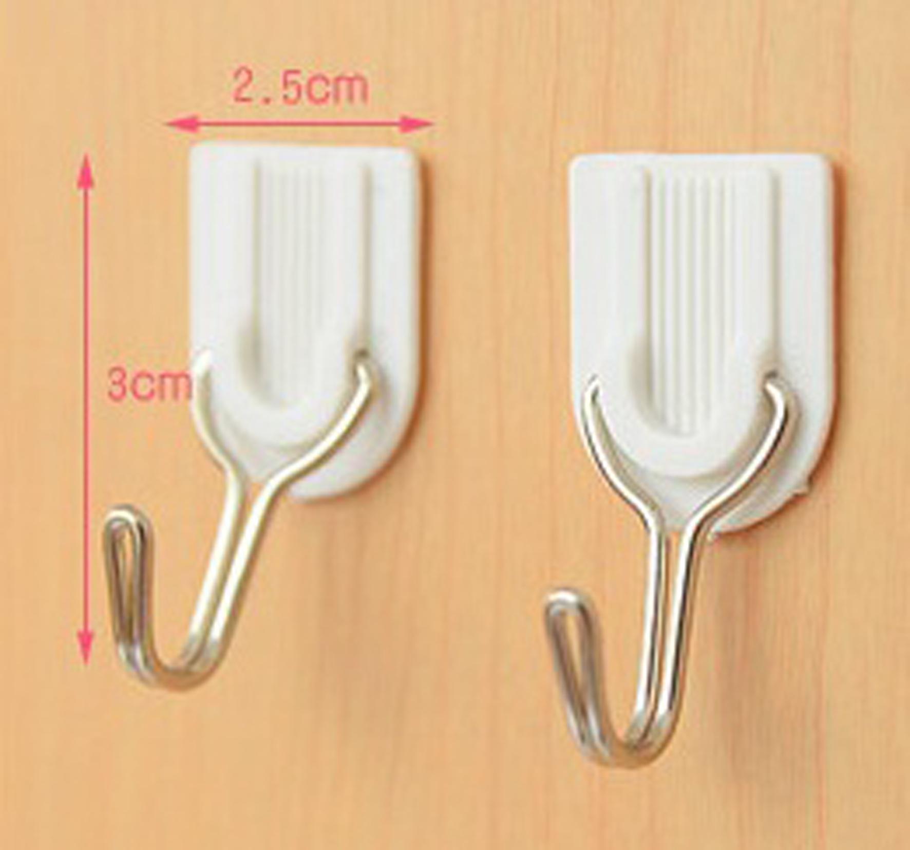 Detail Gambar Hook Multifungsi Gantungan Baju barang Tempel - Putih isi 6 Pcs Powerfull Hook 2