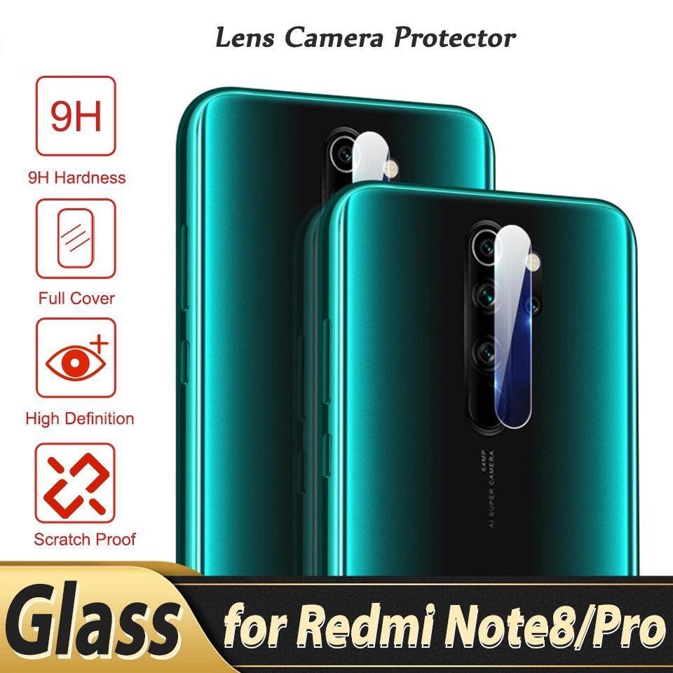 decorum promo ( 2 in 1 ) tempered glass redmi note 5 pro redmi note 6 pro redmi note 7 pro full glue & lensa pelindung kamera belakang