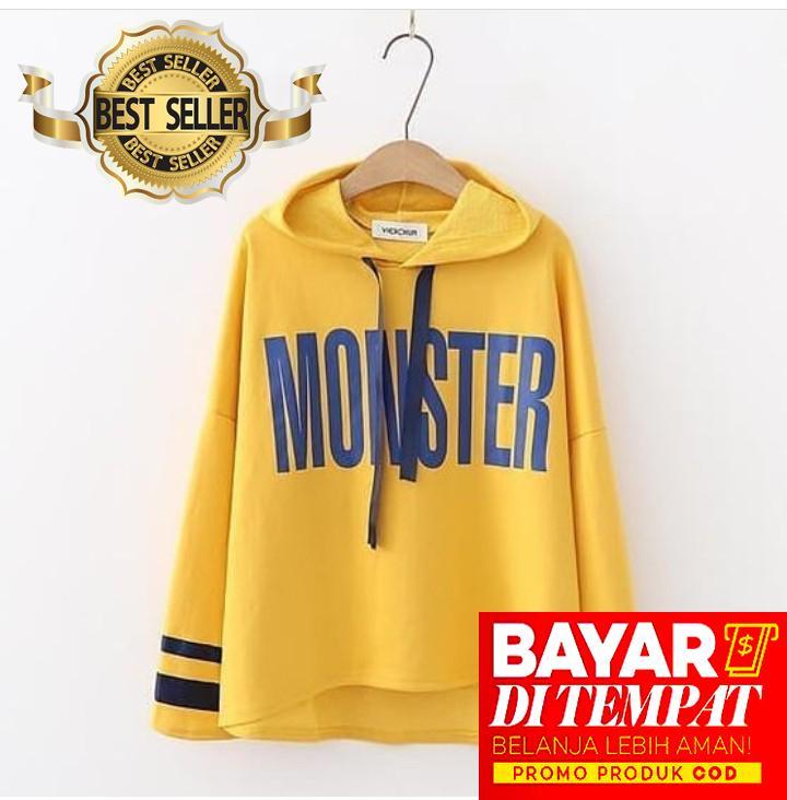 Sweater Wanita Tebal Keren Berkualitas - Motif Monster