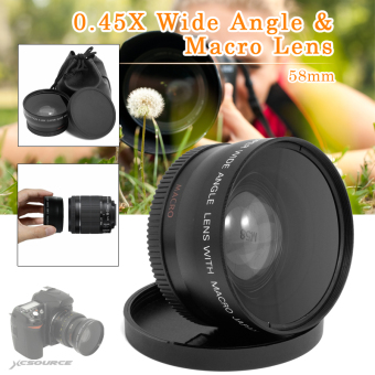0.45X Wide Angle Lens 58mm with Macro for Canon EOS 650D 50D 40D 400D 450D