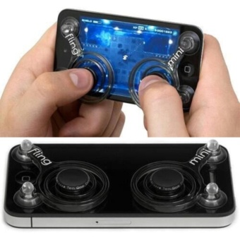 1 Pair Fling Mini Mobile Game Touch Controller Joystick for Smartphone iPhone iPod Android Device