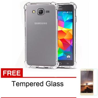1 Paket Casing Handphone Anti Crack Elegant Softcase for Samsung Galaxy J2 Prime - Clear +