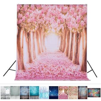 1.5 * 2.1m/5 * 6.9ft Photography Backdrop Background Digital Romantic Flower Tree Road Pattern Printed for Kid Children Baby Newborn Portrait Studio Photography - intl