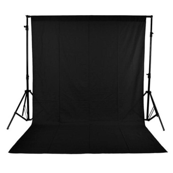 1.6 x 3M / 5 x 10FT Photography Studio Non-woven Backdrop /Background Screen Black - intl