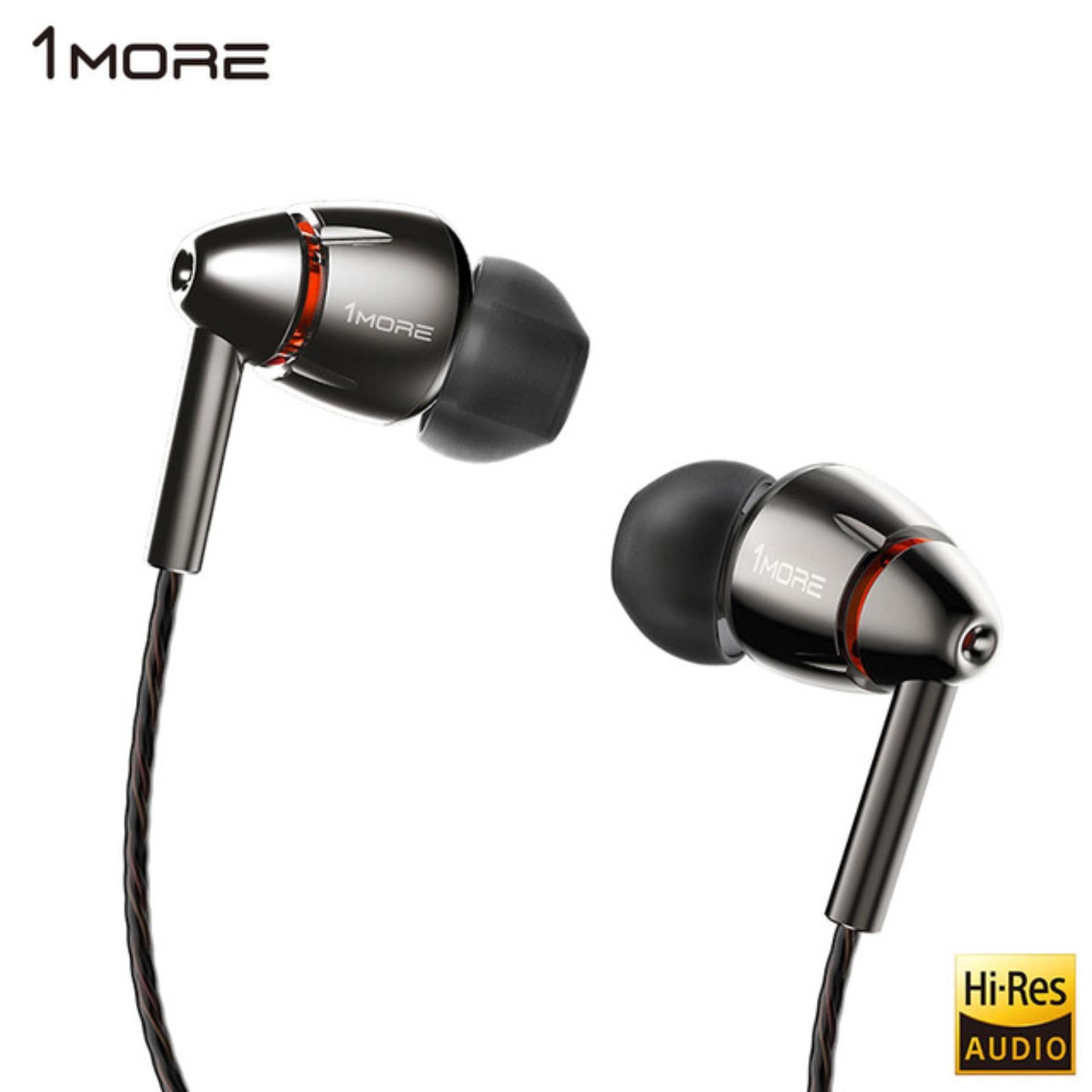 1More E1010 Xiaomi ORIGINAL Earphone Quad Driver In Ear - Hitam