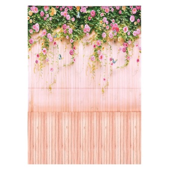 2 * 3m/6.6 * 9.8ft Large Photography Backdrop Background Flower Wood Pattern for Baby Newborn Children Teen Adult Photo Video Studio ^ - intl