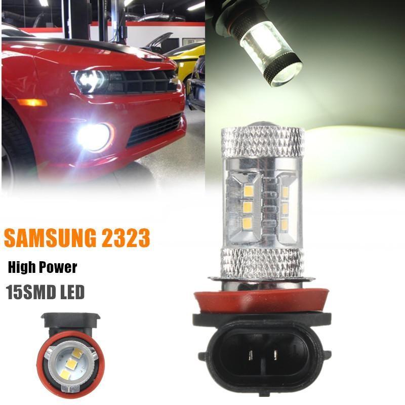 2 Pcs H8/11 LED Mobil Fog Light Fog Lamp 12 V Putih 6000 K