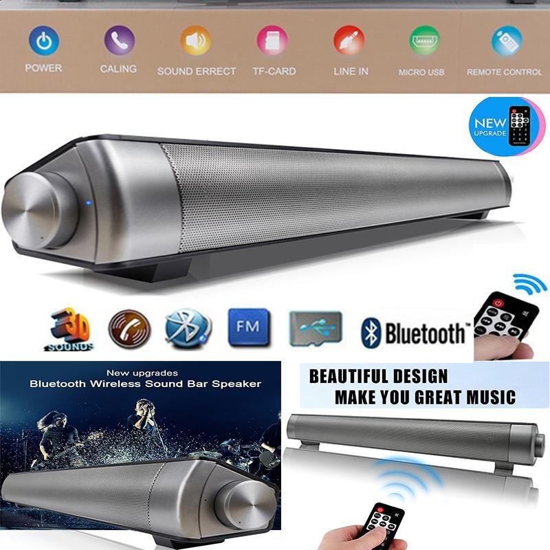 2017 New Upgraded Remote Controller Magnetic Slim Portable Nirkabel Soundbar LP-08 HIFI Kotak Bluetooth