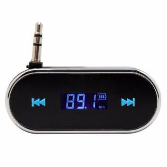 3.5 Mm Di Mobil Audio Bebas-genggam Musik Papan Pemancar FM Stereo untuk Smartphone-