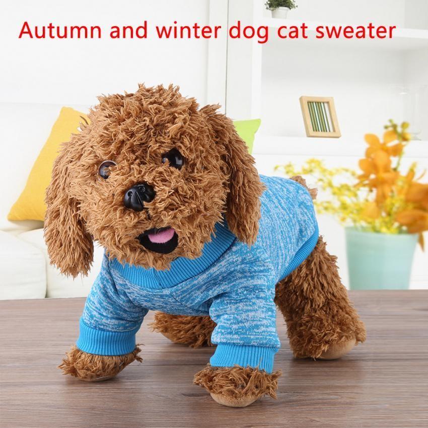 3 Warna 2 Ukuran Fashion Dog Cat Sweater Jaket Mantel Musim Gugur & Musim Dingin Pakaian