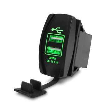 3.1A Waterproof Dual USB Port Charger Socket Outlet 12 V LED untuk Motor Mobil-Intl ...