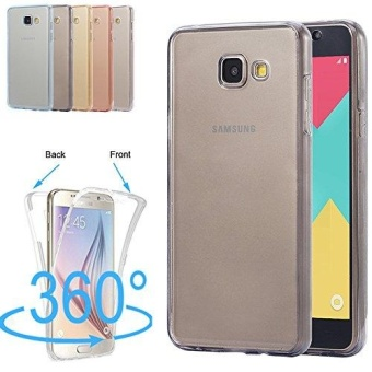360 Derajat Sandal Soft Clear Crystal Gel TPU Case Front + Back Cover untuk Samsung Galaxy