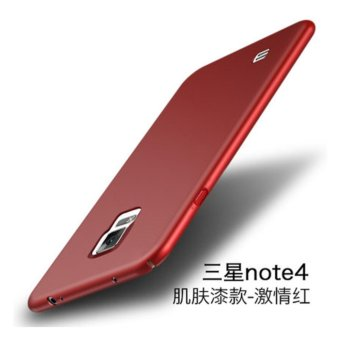 360 degrees Ultra-thin PC Hard shell phone case for Samsung GalaxyNote 4/Red