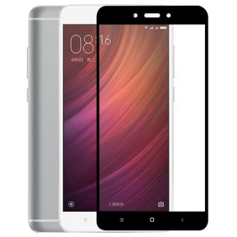 3D Full Cover Tempered Glass Warna Screen Protector for XiaomiRedmi Note 4X - Black
