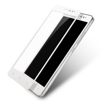 3D Full Cover Tempered Glass Warna Screen Protector for Xiaomi Redmi Note 4X - White