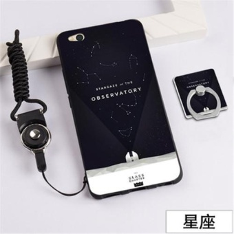 3D Relief Silica Gel Soft Phone Case for Xiaomi Mi 5C with a Ring and a