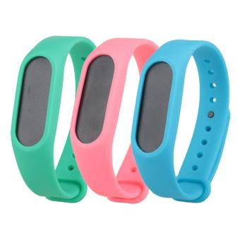 3PCS Replacement Wristband Strap Bands for Xiaomi Mi Band 2/Miband2 band Smart Bracelet Accessories - intl