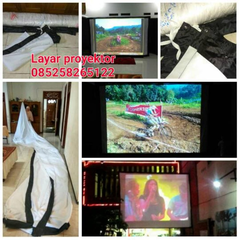 kain layar proyektor 3×4 tanpa sambung