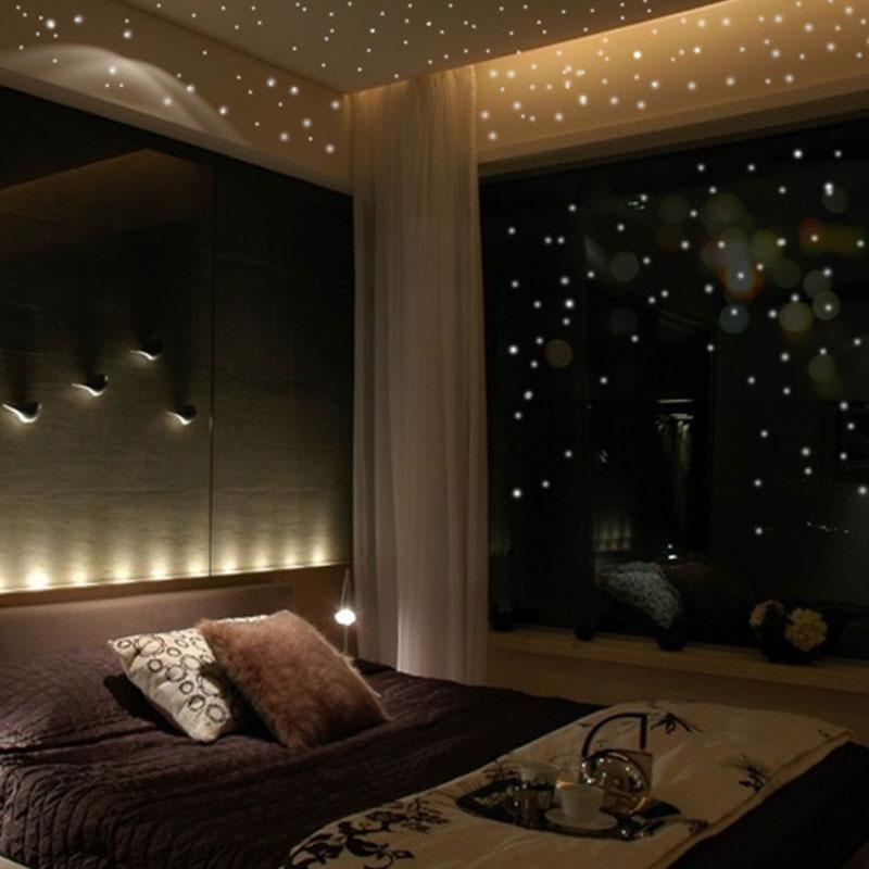 407 Pcs Stiker Dinding Glow In The Dark Model Bulat Berkilau Untuk Kamar Anak