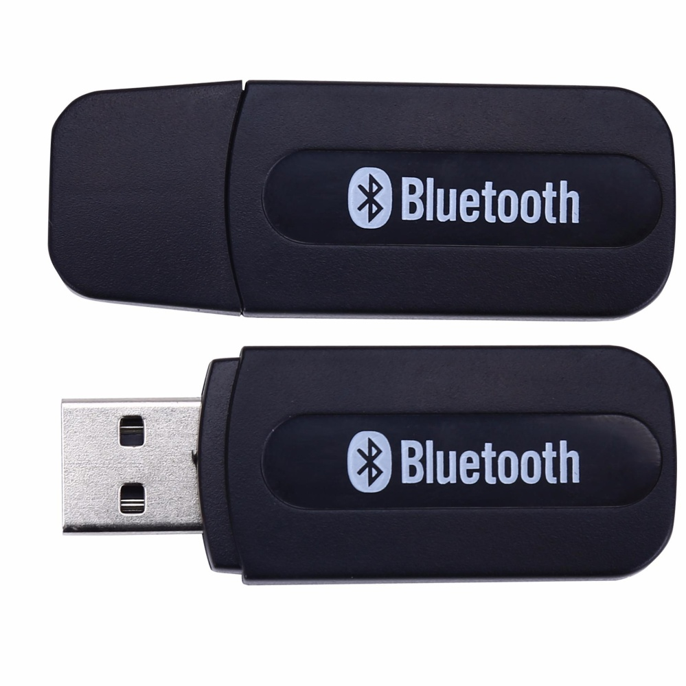 Hot Deals 4Connect USB Bluetooth 3.5mm Stereo Audio Music Receiver Adapter For Speaker Black terbaik