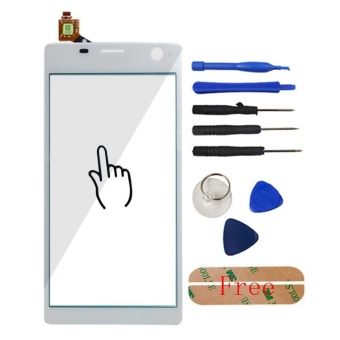 5.5 Inch Touch Glass Screen Digitizer Panel untuk SONY Xperia C4 E5303 E5306 E5353 E5333 Lensa