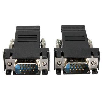 6 Pcs VGA Extender Male untuk LAN CAT5 CAT5e CAT6 RJ45 Jaringan Kabel Female ADAPTER-