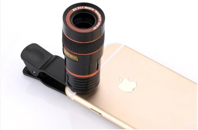 Fitur 8x teleskop lensa untuk iphone android telepon zoom lensa