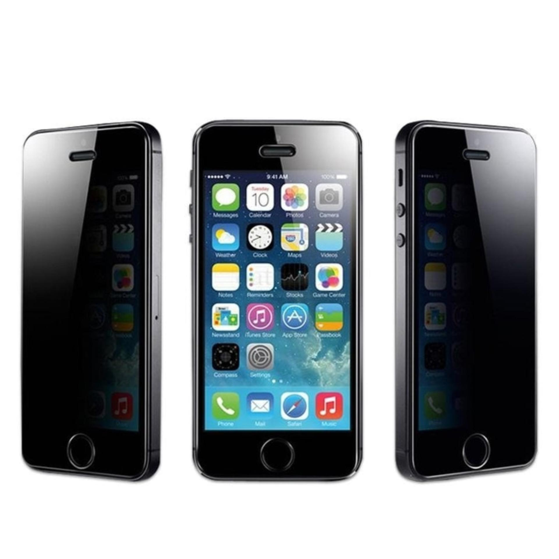 ANTI SPY Tempered Glass Premium Screen Protector Privacy For Iphone 5 / 5s / 5C ...