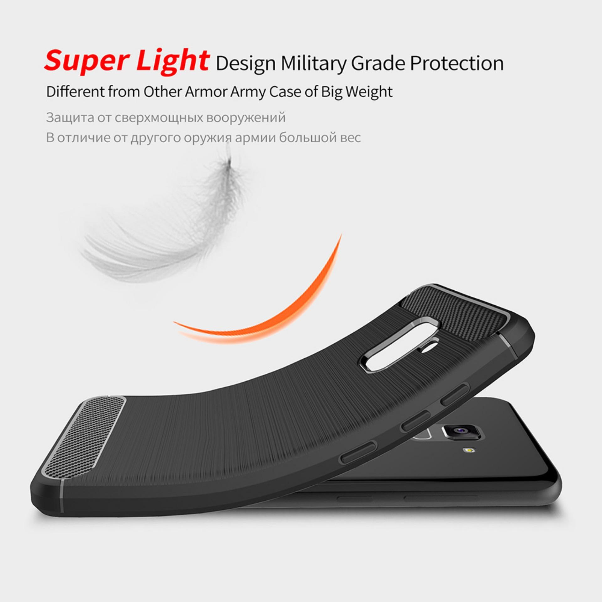 ... Premium Quality Carbon Shockproof Hybrid Case For Samsung Galaxy A5 2018 - Black - 5