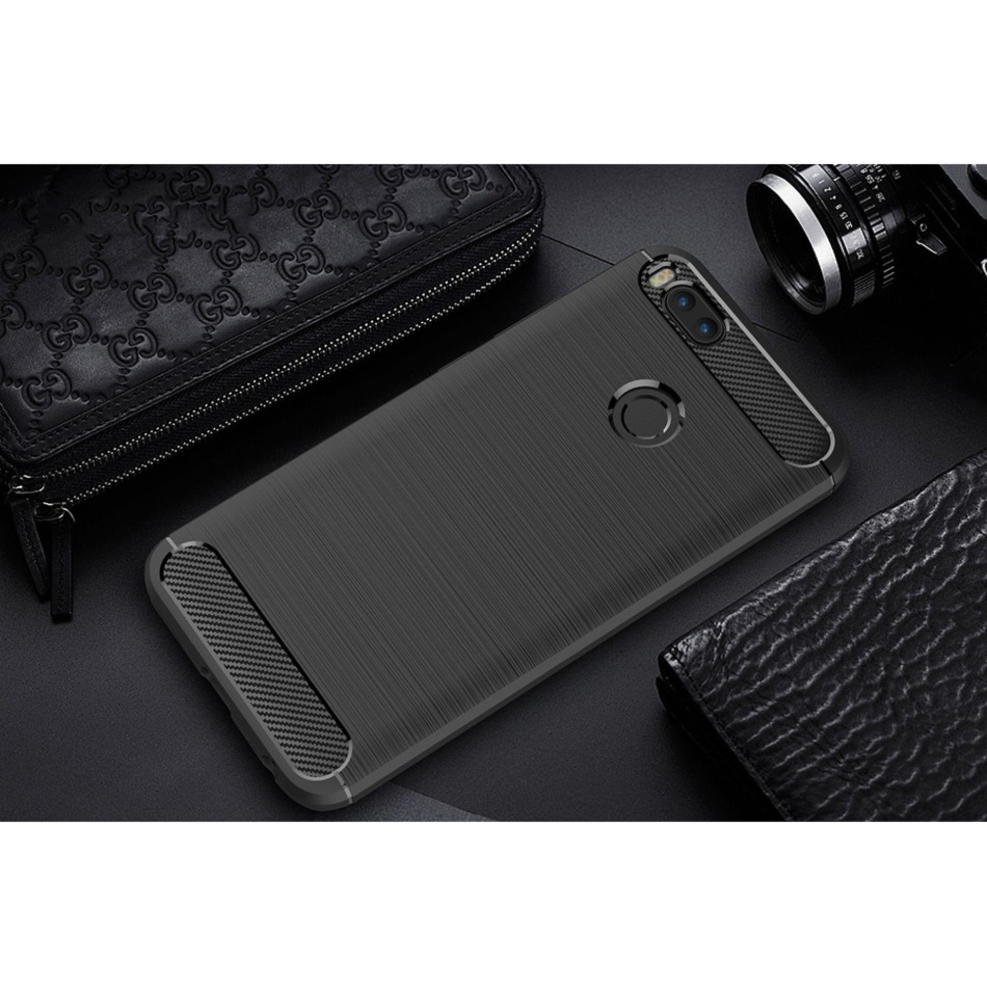 Jak Shop Premium Quality Carbon Shockproof Hybrid Case for Xiaomi Mi A1 /