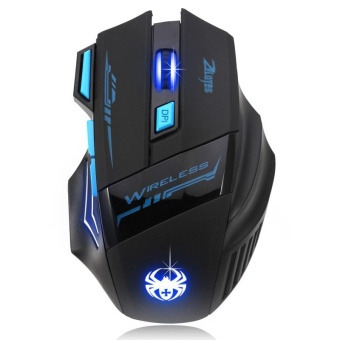 Adjustable 2400 Dpi Optical Wireless Gaming Game Mouse untuk Laptop PC-Intl