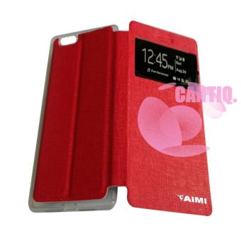 Aimi Oppo R1X / Oppo R8201 / Oppo R8207 Flipshell Aimi Oppo R1X / Flipcover / Leather Case / Sarung Handphone / Sarung Case - Merah