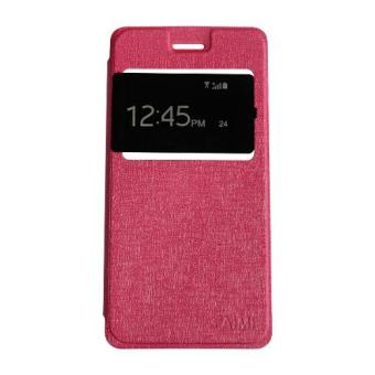 Aimi Leather Case Sarung Untuk Samsung Galaxy J2 Prime Flipshell/Flipcover - Pink
