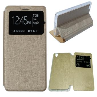 Aimi Leather Cover Vivo Y31 Leather Case Sarung / Flipshell / Flip Cover .