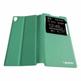 Aimi Flip Cover Sony Xperia Z5 Premium Dual Hijau Tosca / Leather Case Sony Z5 Premium