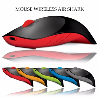 Alcatroz Wireless Mouse Charge Air Shark - Hitam/Merah